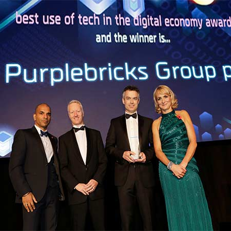 UK Tech Awards - real estate disruptor Purplebricks wins key prize at UK Tech Awards